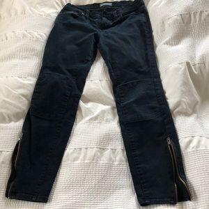 Madewell 28 skinny skinny ankle zip dark jeans